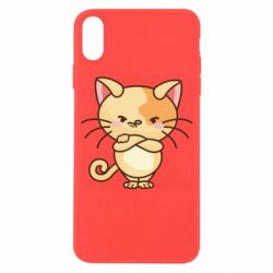 Чехол для iPhone X/Xs Angry red cat