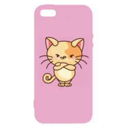 Чехол для iPhone5/5S/SE Angry red cat