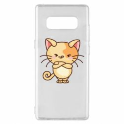 Чехол для Samsung Note 8 Angry red cat