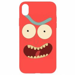Чехол для iPhone XR Angry Rick