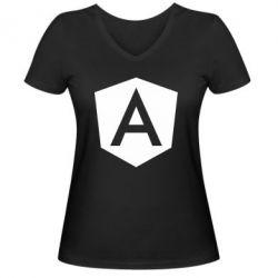 Жіноча футболка з V-подібним вирізом Аngular