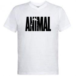 Мужская футболка  с V-образным вырезом Animal Gym - FatLine