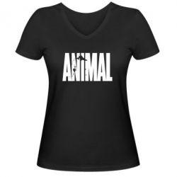 Женская футболка с V-образным вырезом Animal Gym - FatLine