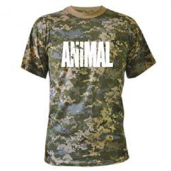 Камуфляжная футболка Animal Logo - FatLine
