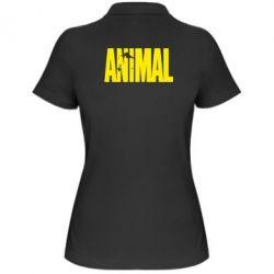 Женская футболка поло Animal Logo - FatLine