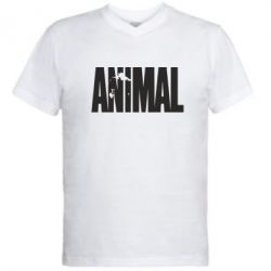 Мужская футболка  с V-образным вырезом Animal Logo - FatLine