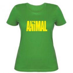 Женская футболка Animal Logo - FatLine