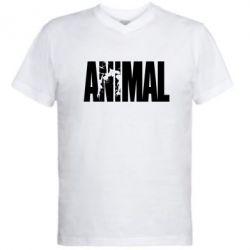 Мужская футболка  с V-образным вырезом Animal Powerlifting - FatLine
