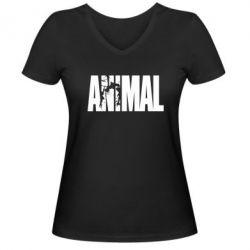 Женская футболка с V-образным вырезом Animal Powerlifting - FatLine