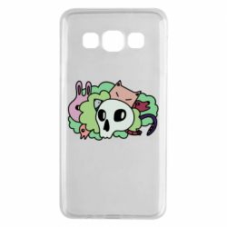 Чехол для Samsung A3 2015 Animals and skull in the bushes