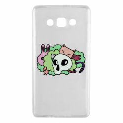 Чехол для Samsung A7 2015 Animals and skull in the bushes