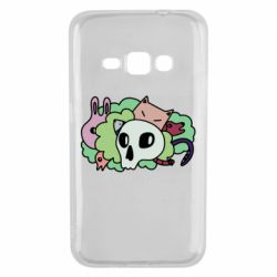 Чехол для Samsung J1 2016 Animals and skull in the bushes