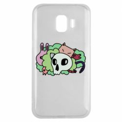Чехол для Samsung J2 2018 Animals and skull in the bushes