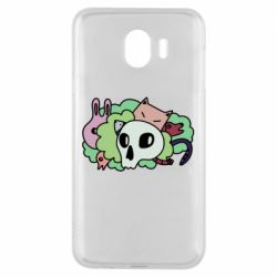 Чехол для Samsung J4 Animals and skull in the bushes
