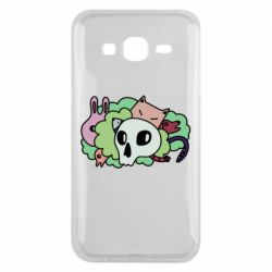 Чехол для Samsung J5 2015 Animals and skull in the bushes