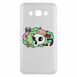 Чехол для Samsung J5 2016 Animals and skull in the bushes