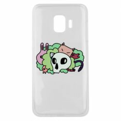 Чехол для Samsung J2 Core Animals and skull in the bushes
