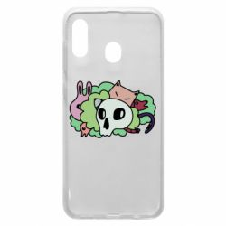 Чехол для Samsung A30 Animals and skull in the bushes