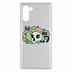 Чехол для Samsung Note 10 Animals and skull in the bushes