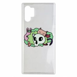 Чехол для Samsung Note 10 Plus Animals and skull in the bushes