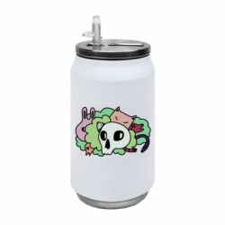 Термобанка 350ml Animals and skull in the bushes