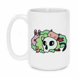 Кружка 420ml Animals and skull in the bushes