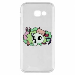 Чехол для Samsung A5 2017 Animals and skull in the bushes