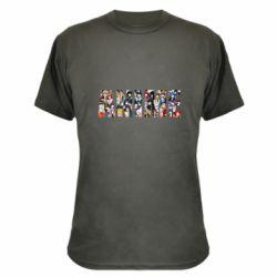 Камуфляжна футболка Anime characters
