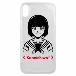 Чехол для iPhone Xs Max Anime girl konichiwa