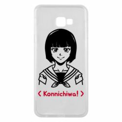 Чехол для Samsung J4 Plus 2018 Anime girl konichiwa