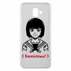 Чехол для Samsung J6 Plus 2018 Anime girl konichiwa