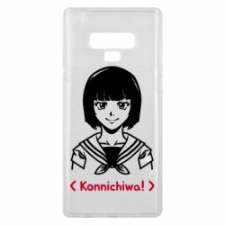 Чехол для Samsung Note 9 Anime girl konichiwa