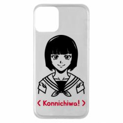 Чехол для iPhone 11 Anime girl konichiwa