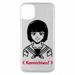 Чехол для iPhone 11 Pro Anime girl konichiwa