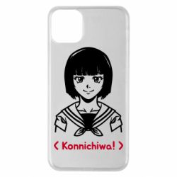 Чехол для iPhone 11 Pro Max Anime girl konichiwa