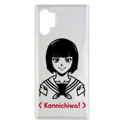 Чехол для Samsung Note 10 Plus Anime girl konichiwa