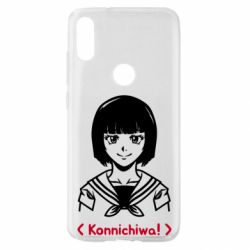 Чехол для Xiaomi Mi Play Anime girl konichiwa