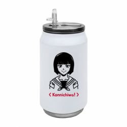 Термобанка 350ml Anime girl konichiwa