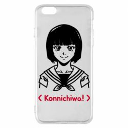 Чехол для iPhone 6 Plus/6S Plus Anime girl konichiwa