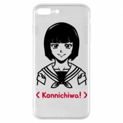 Чехол для iPhone 7 Plus Anime girl konichiwa