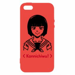 Чехол для iPhone5/5S/SE Anime girl konichiwa