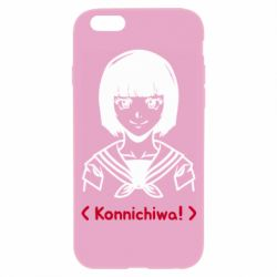 Чехол для iPhone 6/6S Anime girl konichiwa