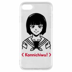 Чехол для iPhone 8 Anime girl konichiwa