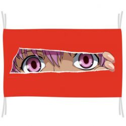 Прапор Anime girl peeping