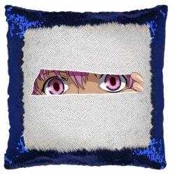 Подушка-хамелеон Anime girl peeping