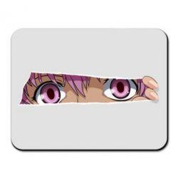 Килимок для миші Anime girl peeping
