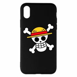 Чохол для iPhone X/Xs Anime logo One Piece skull pirate