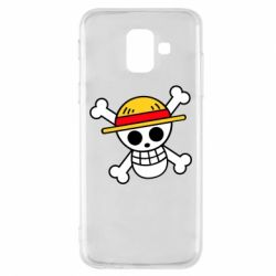 Чохол для Samsung A6 2018 Anime logo One Piece skull pirate