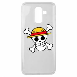 Чохол для Samsung J8 2018 Anime logo One Piece skull pirate