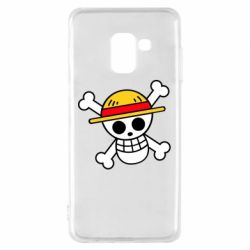 Чохол для Samsung A8 2018 Anime logo One Piece skull pirate